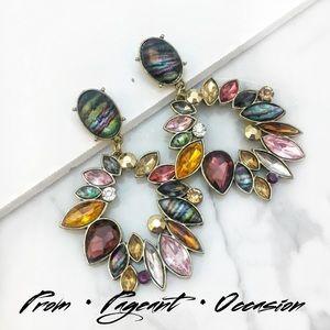 Jewelry - Dramatic Multicolor Gemstone Earrings